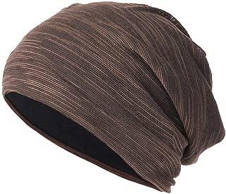URIBAKE Newest Men Women Baggy Warm Crochet Winter Wool Knit Ski Beanie Skull Slouchy Caps Hat Coffee