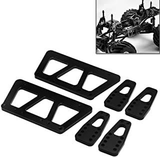 Alloy Chassis Lift Plate Set Kit for 1/10 RC Axial SCX10 Model Car Part (Black)