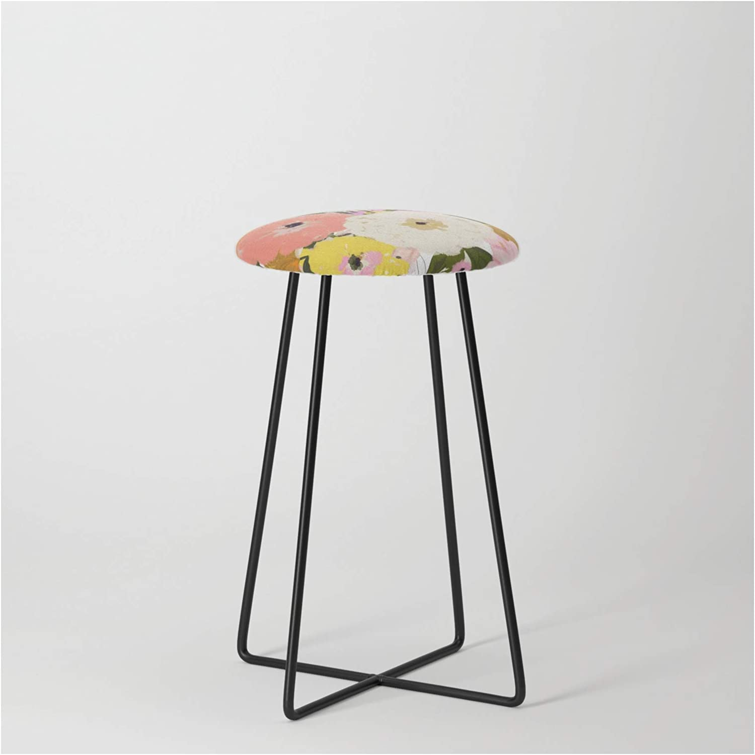 Society6 Max 66% OFF Spring Floral by Alison Janssen on - Blac New product!! Stool Counter