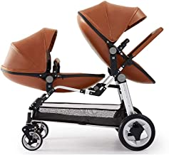 ZDMSEJ Stroller- Lightweight, Compact and Easy to maneuvers. Fits Through Standard doorways, independently extendable Hoods with Reclining Seats