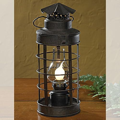 holds a tin lantern Country new rustic brown metal lantern wall bracket