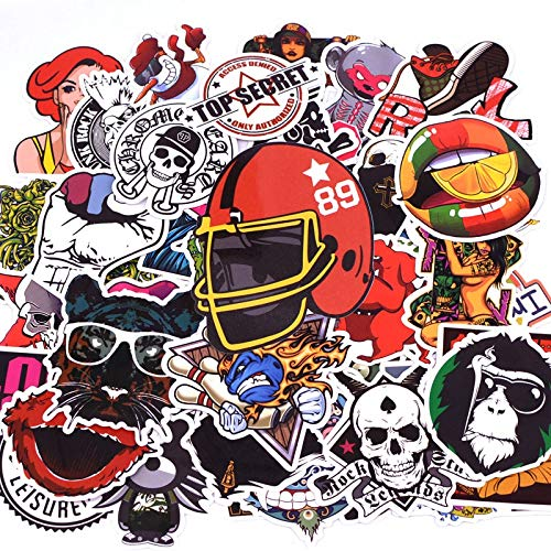 BLOUR 50 unids/Pack Pegatinas de Tiempo de Aventura de Dibujos Animados monopatín Equipaje Maleta Motocicleta portátil Pegatinas Impermeables niños Juguete clásico