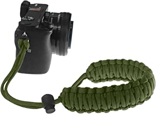 FoRapid Braided 550 Paracord Adjustable Camera Wrist Strap/Bracelet for Mirrorless Compact System DSLR Cameras, Binoculars (Olive Drab)