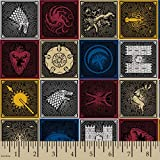 HBO - Game Of Thrones Game of Thrones House Sigils Fabric, Multi