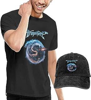 Dragonforce Cotton Casual Camiseta de manga corta con gorra de béisbol para hombre