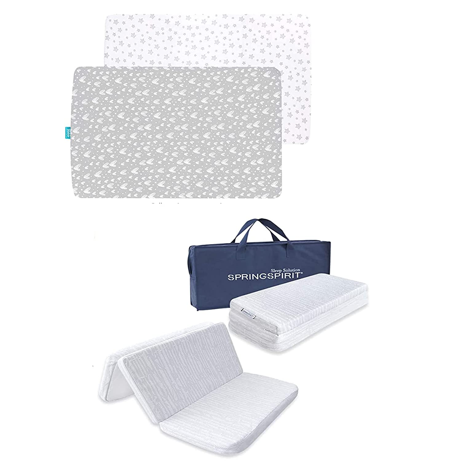 Pack and Play Sheets 2 Manufacturer OFFicial shop n Trifold with Sale item Matt Bamboo