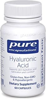 Pure Encapsulations - Hyaluronic Acid - Hypoallergenic Supplement Supports Skin Hydration, Joint Lubrication and Comfort* - 60 Capsules