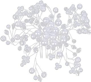 perfektchoice Girls Pearls Gypsophila Floral Hair Clip Comb Wedding Prom Hair Accessories