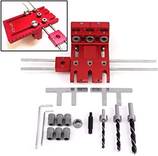 3 in 1 Woodworking Drill Guide Kit Locator Doweling Jig Joinery System Hole Puncher Set Aluminium Alloy Tools