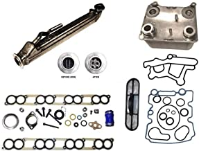 Bullet Proof EGR Cooler/Ford OEM Engine Oil Cooler/Intake Manifold Gaskets/Turbo Install Kit Compatible with 2004-2007 Ford 6.0 Powerstroke Diesel