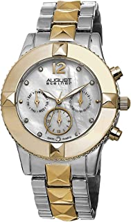 August Steiner Women's Mother of Pearl Dial Stainless Steel Band Watch - AS8107TTG