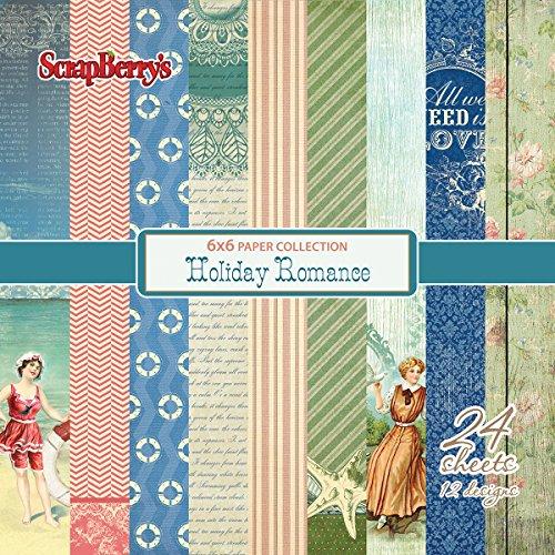 scrapberry 's 12einseitiges Designs Papier (24/Pack), 15,2x 15,2cm