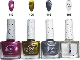 Flame Gusty Premium Nail Polish Combo, Multicolour, 9ml each (Pack Of 4)