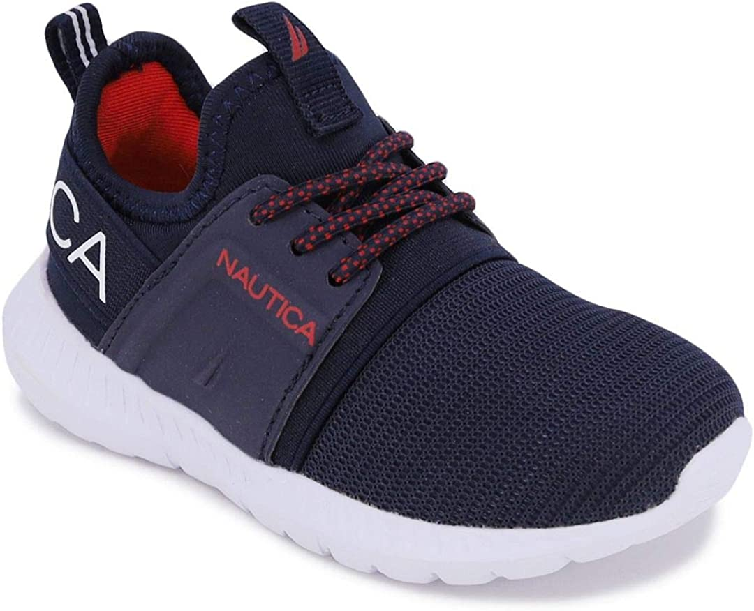 Nautica Kids Boys Lace-Up Fashion Sneaker Athletic New item Ru Breathable Minneapolis Mall