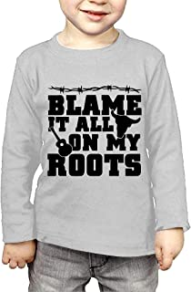 Blame It All On My Roots Printed Kids Long-Sleeved T-Shirt