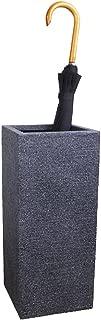 Yxsd Umbrella Stand Indoor Holder Ceramic, Square, Black (Size : L)