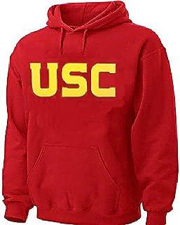 USC Trojans Mens Crimson Screened Wordmark Hoodie Sweatshirt by 289c