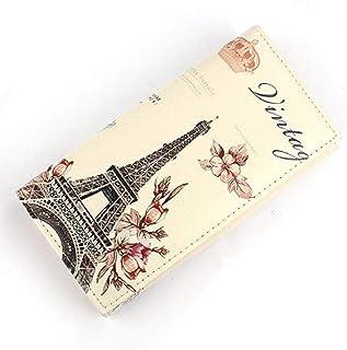 Gris Scpink Lona de las mujeres Retro Peque/ño Mini Cuadrado Eiffel Monedero Monederos Monederos Embrague Bolsa de Dinero Bolsas de Regalo /¡Ofertas
