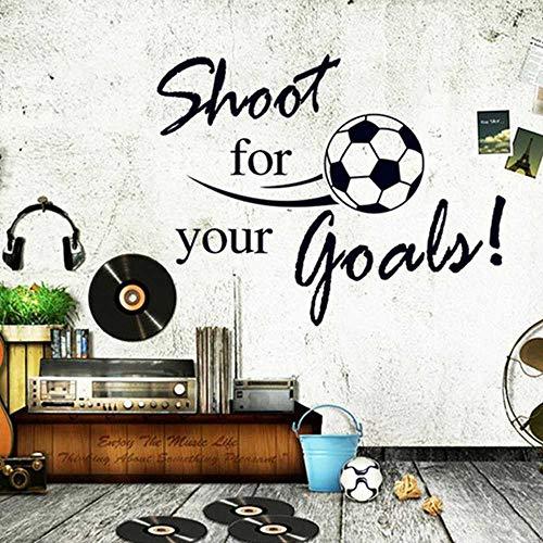 YSNMM Muurstickers Schieten Voor Uw Doelen Citaten Voetbal Kids Kamers Woonkamer Jongens Slaapkamer Decor Muur Kunst Decals Gift Poster
