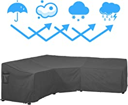 Covolo Waterproof Patio V Shaped Sectional Furniture Cover, Premium Outdoor Lounge Porch Sofa Covers, Garden Couch Protector 100