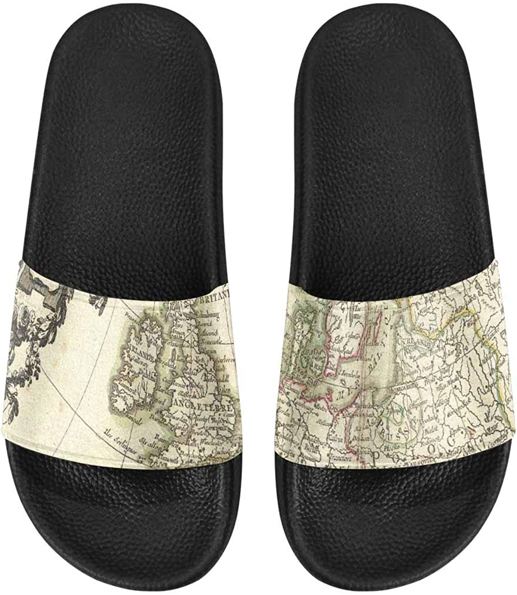 InterestPrint Outdoor Stylish Sandals Slides for Women Mandala Sketchy