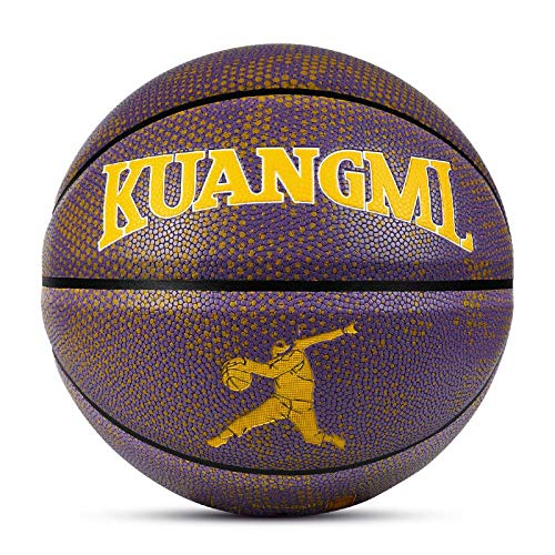Lowest Price! SSLLPPAA Purple Gold Adult No. 7 Basketball Indoor and Outdoor Training Game Basketbal...