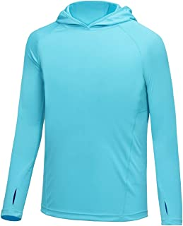 BALEAF Boys UPF 50+ Shirts Sun Protection Quick Dry Youth Long Sleeve Hoodies Shirt for Workout Thumbholes