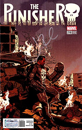 Jon Bernthal Autographed/Signed Marvel Punisher Iron Man Mask Cover #218 Comic