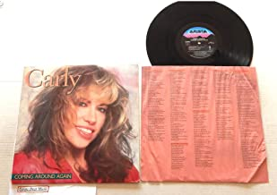 Carly Simon Coming Around Again - Arista Records 1987 - A Used Vinyl LP Record - 1987 Pressing AL-8443 Sterling DMM - As Time Goes By - All I Want Is You - Give Me All Night - Itsy Bitsy Spider