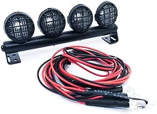 ل 1/10 RC Car TRX4 SCX 10--مصباح سقف معدني DIY LED ضوء كشاف 1/10 RC Car TRX4 SCX 10