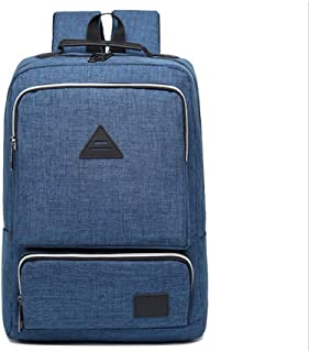CHENDX Handbags Fashion Casual Men and Women Simple Retro Large Capacity Backpack Business Laptop Bag School Bag (Color : Blue, Size : 42 * 28 * 13cm)