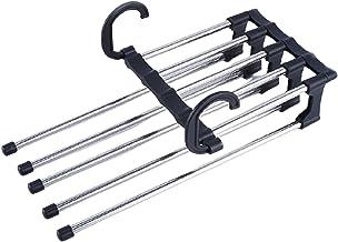 Jishu Multi-Layer Broek Hanger Horizontaal of Verticaal Vouwen Roestvrij Staal Kleding Rack Closet Opslag voor Tie Sjaal