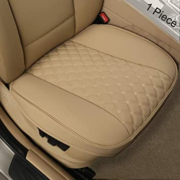 1 Piece Universal Sideless Driver Seat Protector with Lumbar Support and Headrest Cover Gray Black Panther Car Seat Cover