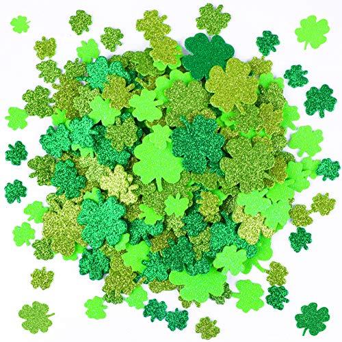 Qpout 240 pièces Autocollants en mousse de la Saint-Patrick,
