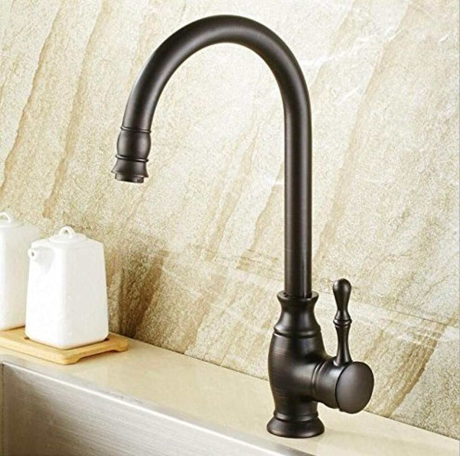 360° redating Faucet Retro Faucetkitchen Sink Taps Hot and Cold Single Lever Hot and Cold Kitchen Faucet