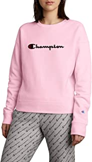 Champion Women's Reverse Weave Crew, Chainstitch Script