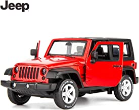 TGRCM-CZ Diecast Model Cars Toy Cars, Jeep Wrangler 1:32 Scale Alloy Pull Back Toy Car with Sound and Light Toy for Girls and Boys Kids Toys (Red)