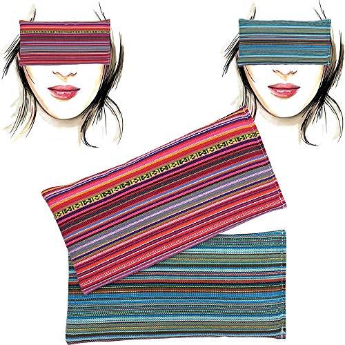 Almohada para los ojos 'Pack-2 Alpujarreña' | Semillas de Lavanda y arroz | Yoga, Meditación, Relajación, descanso de ojos...