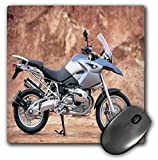 3dRose LLC 8 x 8 x 0.25 Inches Mouse Pad, Motorcycle Standing (mp_53242_1)