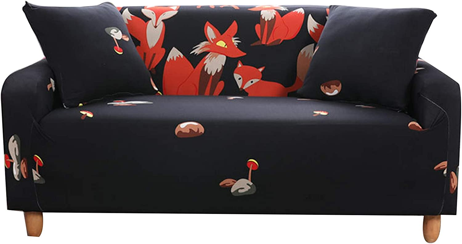 RENJIANFENG Printed Stretch Sofa Spandex Max 71% OFF Polyester Online limited product Cover Elastic