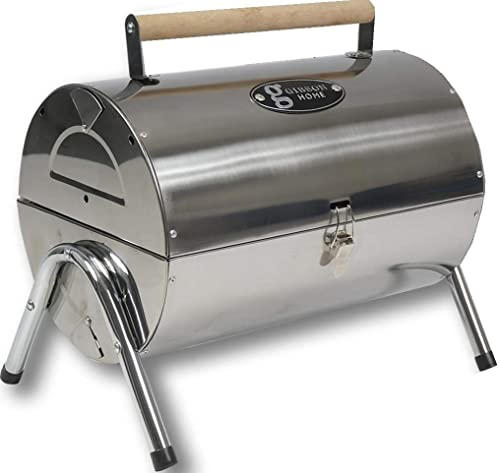 2021 Gibson Home Wilkerson Double Barrel online Stainless Steel BBQ new arrival Grill W/Lock and Legs online