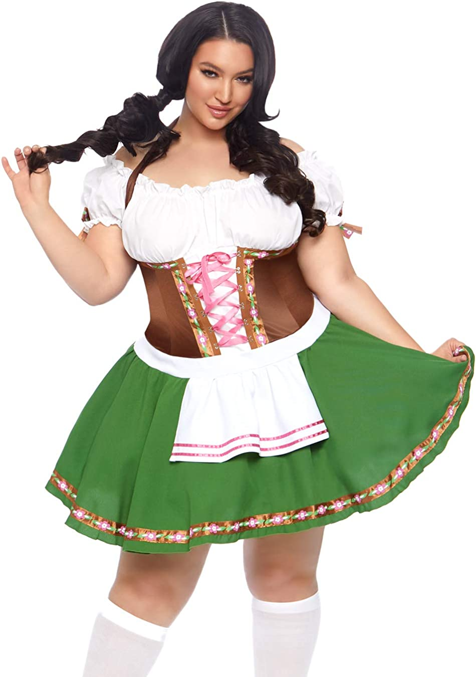 LEG AVENUE LIL/' GERMAN GIRL OKTOBERFEST BAVARIAN Ladies Fancy Dress Outift 83668