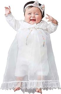 ANGELIEBE エンジェリーベ オリジナル 日本製 ベビー服 リバティ 小花柄 セレモニードレス 赤ちゃん 女の子 退院 お宮参り 新生児 50-70㎝ オフホワイト 51175161