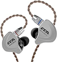 CCA C10 Five Drivers Hybrid in Ear Monitors in Each Side,HiFi 4BA 1DD High Resolution Earphones/Earbuds with 3.5mm Gold Pl...