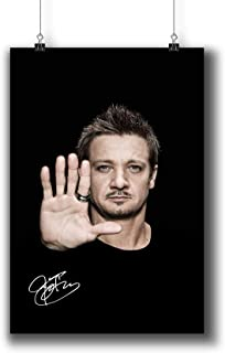 Jeremy Renner Actor Movie Photo Poster Prints 194-011 Reprint Signed,Wall Art Decor for Dorm Bedroom Living Room (A3|11x17inch|29x42cm)