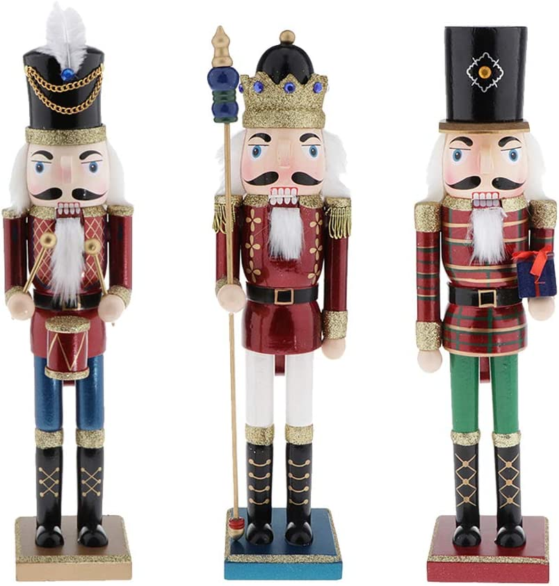 Tongina 3pcs Product 15'' Recommendation Soldier Nutcracker Handpa Home Tabletop Puppet