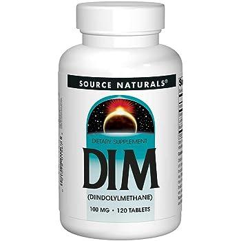 Source Naturals DIM, Diindolylmethane 100mg with BioPerine, Vitamin E & More - 120 Tablets