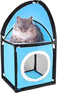 Adorrable Mega Kit Cat Furniture Cat Nest Corner Condo Tower Detachable Washable for Kittens, Cats and Pets