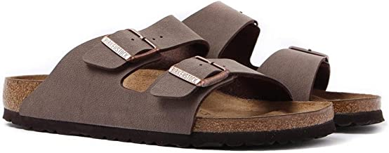 Birkenstock Unisex Arizona Mocca Nubuck Sandals - 10-10.5 B(M) US Women/8-8.5 D(M) US Men