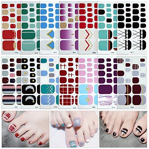 Füße Nagelsticker,Nagelaufkleber,Nagelkunst Sticker Selbstklebende Maniküre Sticker Schöne Mode...